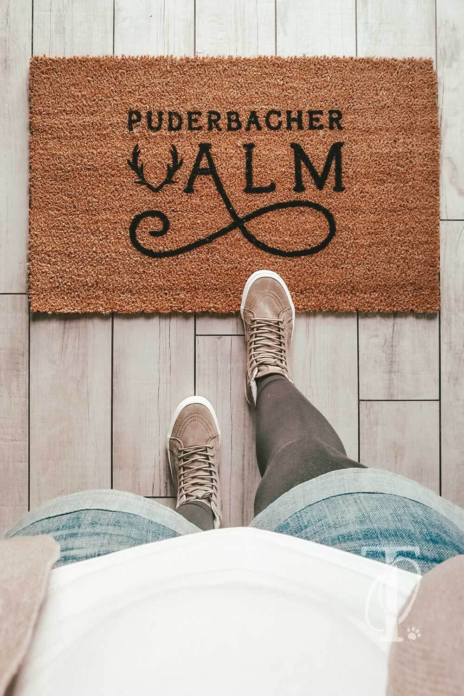 DIY Fußmatte selbst gestalten und bemalen