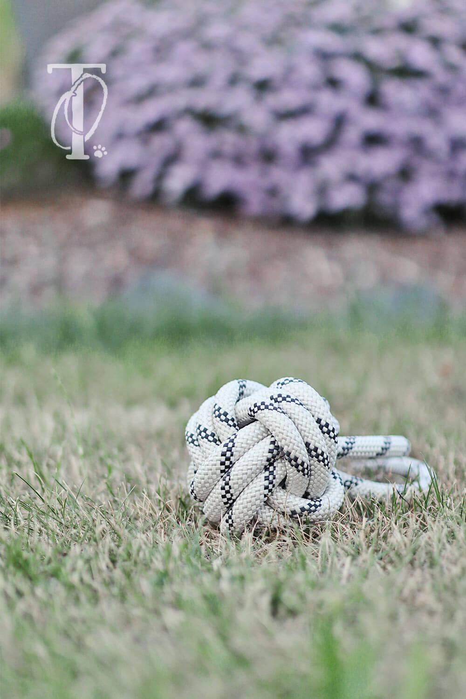 Upcycling: Ball aus Seil als Spielzeug für den Hund