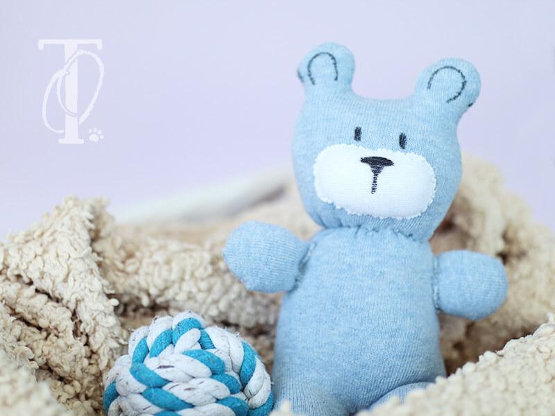 Socken wiederverwerten: Teddy nähen