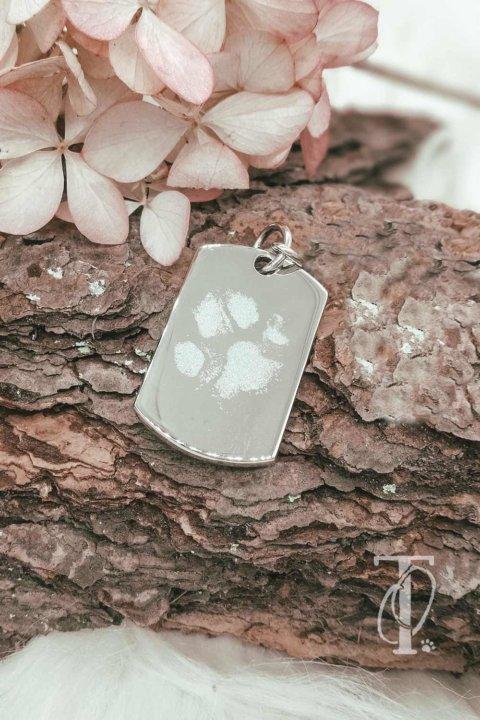 Kettenanhänger mit Pfotenabdruck von deinem Hund: Prägende Erinnerung