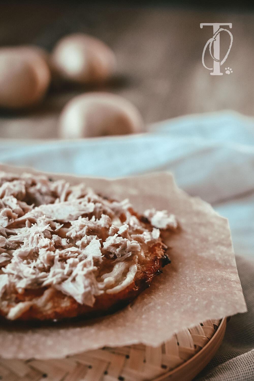 Rezept für Pizza aus Kartoffeln für Hunde backen