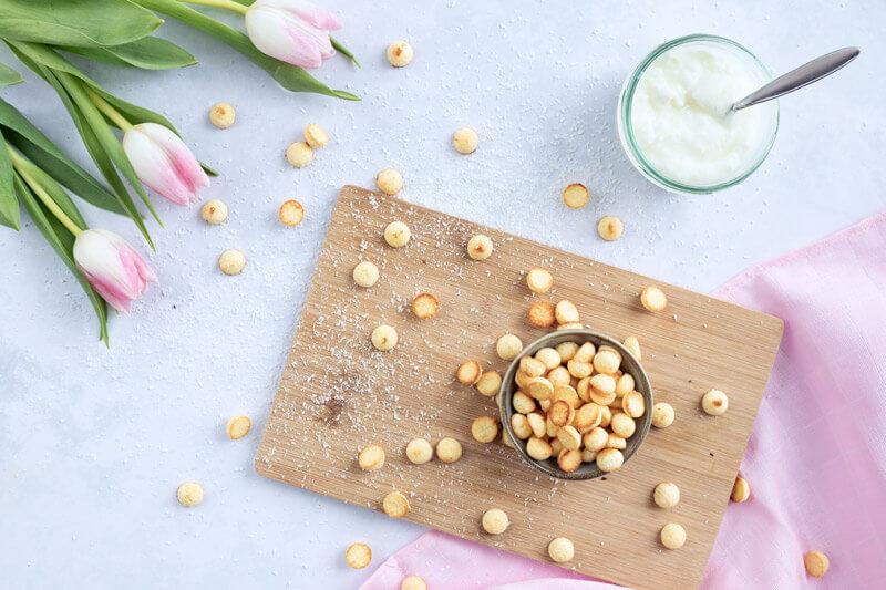 Backmatten-Leckerli für den Hund aus Kokos und Joghurt